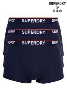 Lot de 3 boxers Superdry coupe classique bleu marine