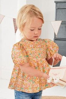 Хлопковая блузка со сборками (3 мес.-7 лет)