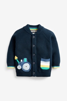 Character Pocket Button Through Cardigan (3mths-7yrs)
