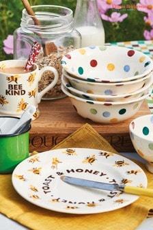 Emma Bridgewater Cream Bumblebee Toast and Honey Plate