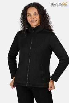 Regatta Black Razia Full Zip Fleece Jacket