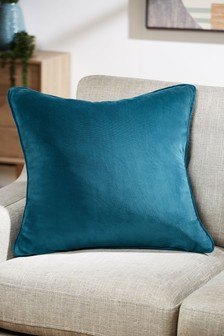 Duża, kwadratowa aksamitna poduszka