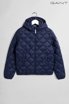 GANT Blue Light Weight Diamond Padded Jacket
