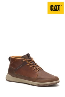 CAT® Brown Quest Mid Leather Boots