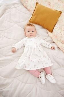 סט של שמלה וגרביונים בהדפס דמות (0 חודשים עד גיל 2)