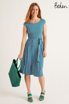 Boden綠色Esmeralda平織洋裝