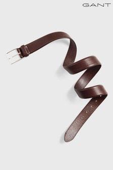 Коричневый классический кожаный ремень GANT