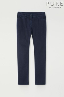Pure Collection Blue Duchy Cropped Jeans