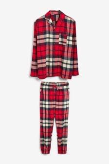 Мужская пижама в клетку из коллекции для всей семьи
