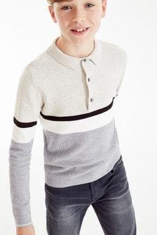 Трикотажная рубашка поло в стиле колор блок (3-16 лет)