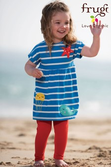 Frugi Blue GOTS Organic Summer Tunic And Leggings Set