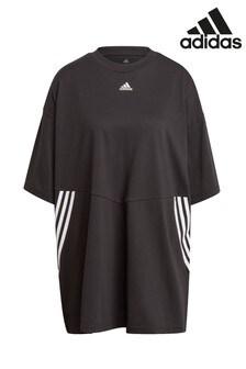 Футболка в стиле оверсайз с тремя полосками adidas