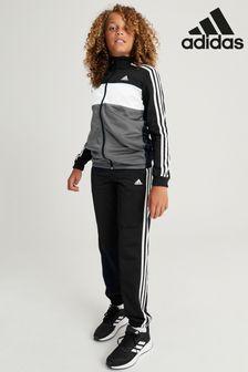 adidas Black/Grey Tiberio Tracksuit