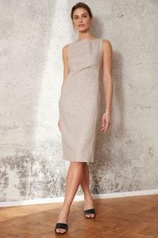 Tailored Linen Blend Dress