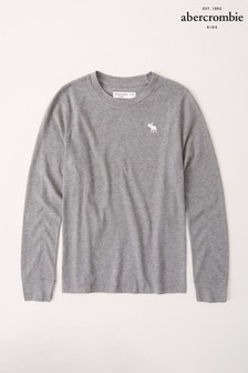 Abercrombie & Fitch Grey Long Sleeved T-Shirt
