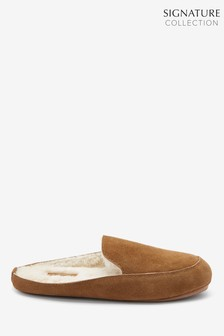 Signature Suede Mule Slippers