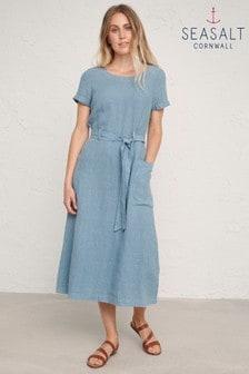 Seasalt Blue Quiet Sea Dress