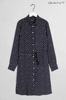 GANT Blue Desert Jewel Printed Shirt Dress