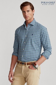 Polo Golf by Ralph Lauren Multi Check Logo Long Sleeve Shirt