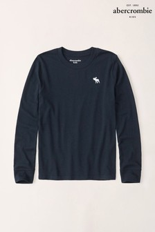 Abercrombie & Fitch Navy Long Sleeved T-Shirt