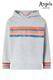 Angels by Accessorize Grey Rainbow Stripe Hoody