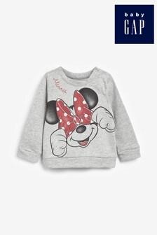 Gap Grey Disney™ Minnie Mouse™ Crew Sweater