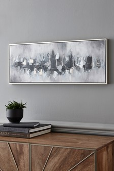 Monochrome Abstract Canvas