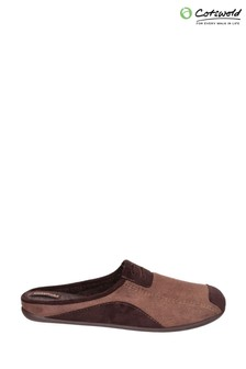 Cotswold Brown Westwell Slippers