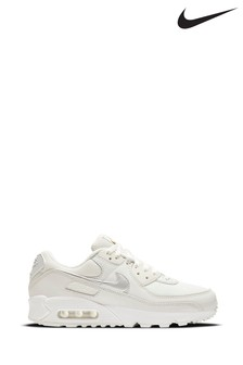 Nike White/Purple Air Max 90 Trainers