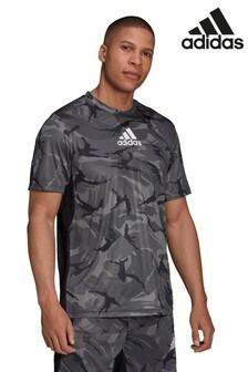 adidas Trainings-T-Shirt im Camouflagemuster