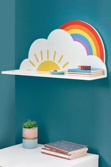 Legplank met zon en regenboog