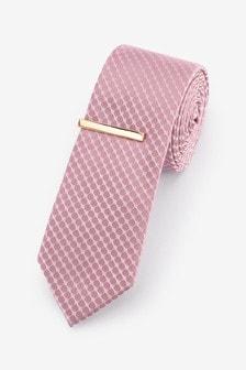 Галстук и зажим для галстука