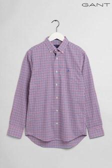 GANT Purple Broadcloth 3 Colour Regular Shirt