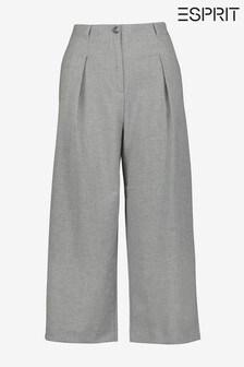 Esprit Grey Flared Cropped Culottes