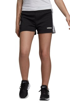 Черные пляжные шорты с 3 полосками adidas Essential