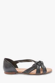 Leather Knot Two Part Shoes