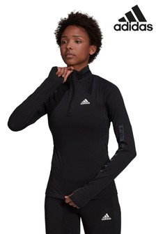 adidas D2M Motion Sweatshirt mit 1/2-Reißverschluss