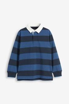 Block Stripe Rugby Shirt (3-16yrs)