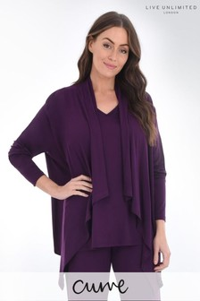 Live Unlimited Curve - Cardigan in jersey bordeaux