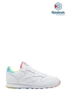 Reebok White Rainbow Classic Junior Trainers