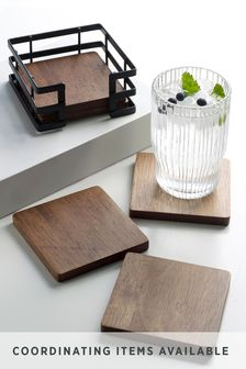 Set of 4 Wooden Bronx Coasters