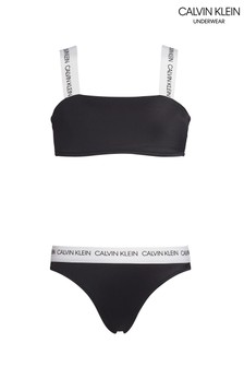 Calvin Klein - CK - Completo bikini nero con logo