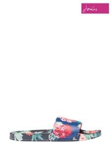 Papuci pentru piscină cu imprimeu Joules albaștri