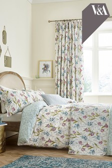 V&A Bettbezug und Kissenbezug mit Frühlingstulpen-Print