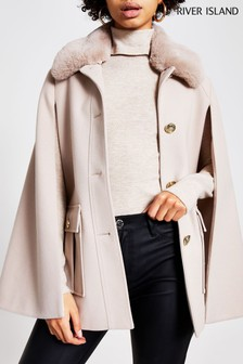 River Island Cream Light Utility Cape