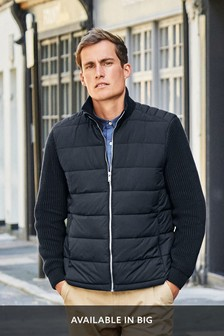 Knitted Sleeve Quilted Jacket