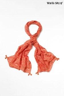 Розовый шарф из хлопка и льна White Stuff Luna