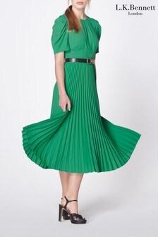 שמלת קפלים של L.K.Bennett דגם Avalon בירוק