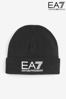 Emporio Armani EA7 Black Beanie Hat