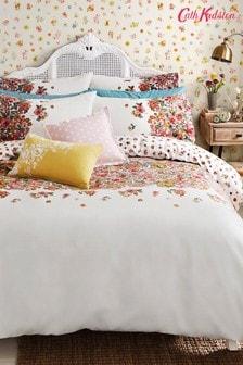 Cath Kidston Bettbezug aus gebürsteter Baumwolle mit gemaltem Blütendesign